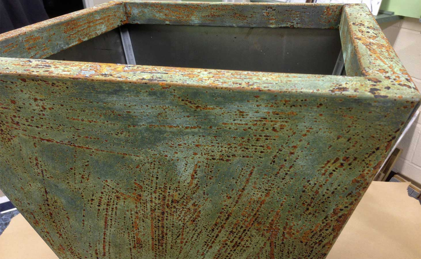 Real Rust FX Planter